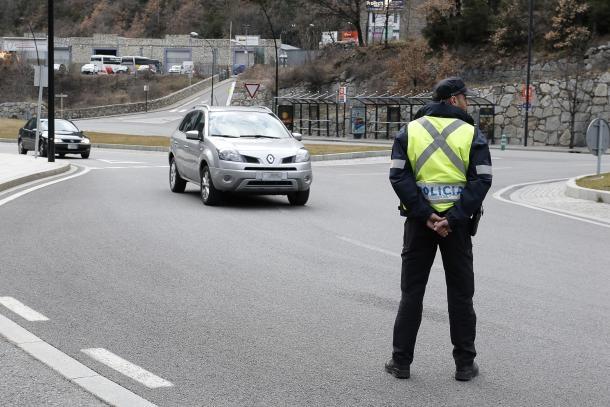 Un control de la policia.