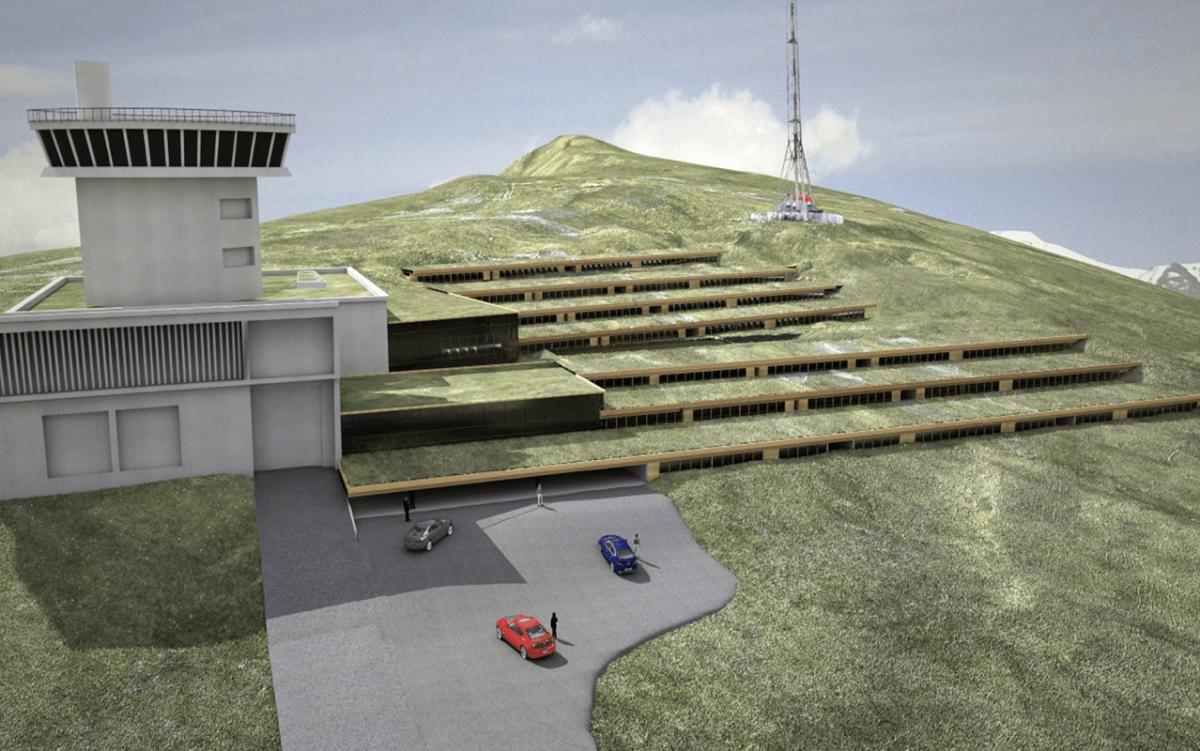 Recreació virtual del futur Centre d'alt rendiment medicoesportiu previst al Pic Blanc.