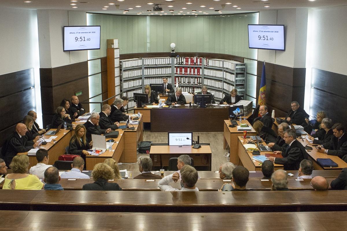 Imatge d'una de les sessions del judici del 'cas BPA'.