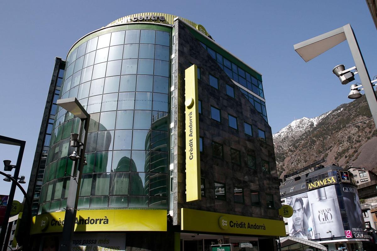 La seu central de Crèdit Andorrà a Andorra la Vella.