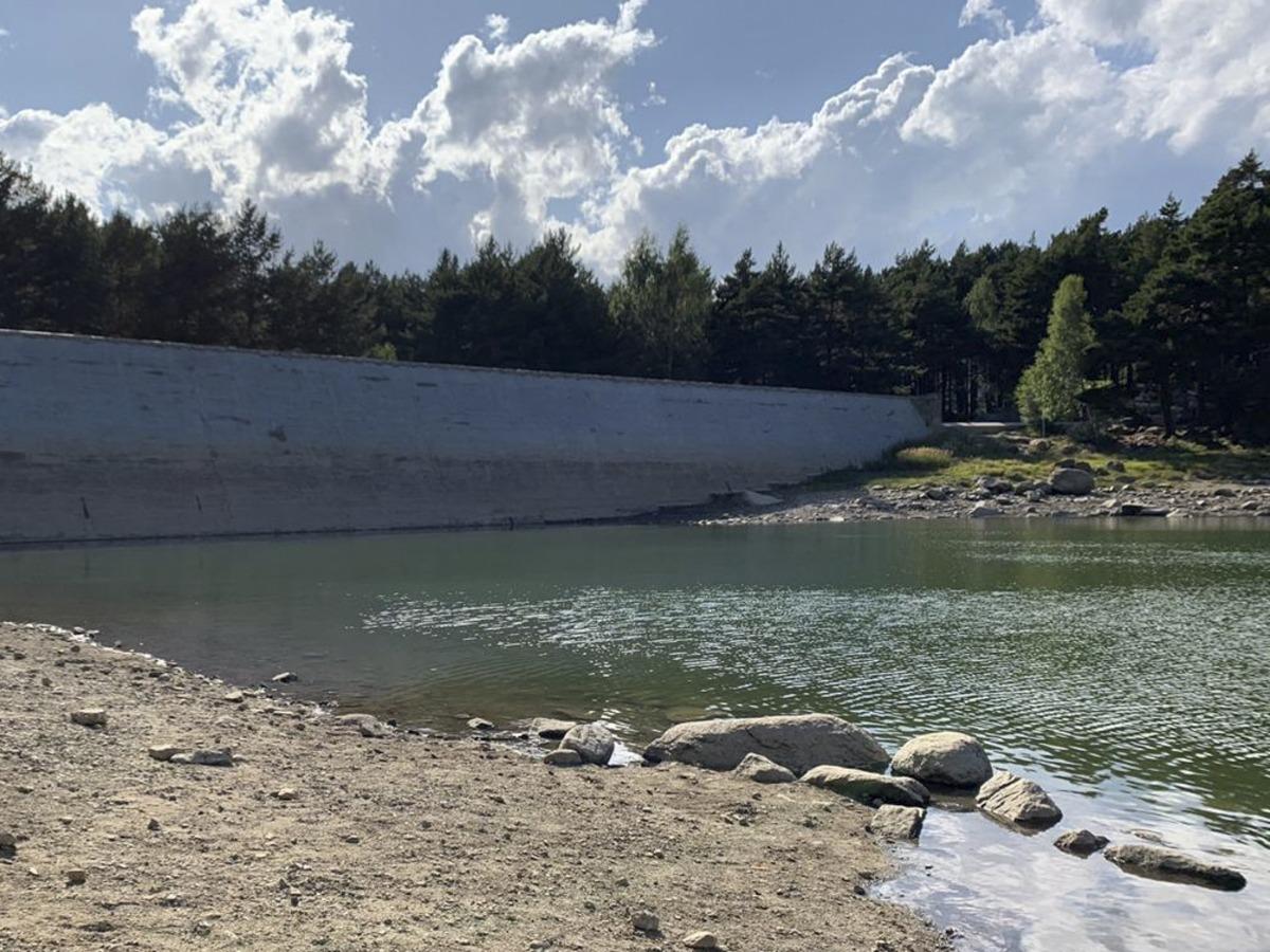 Vista de la zona del llac d'Engolasters.
