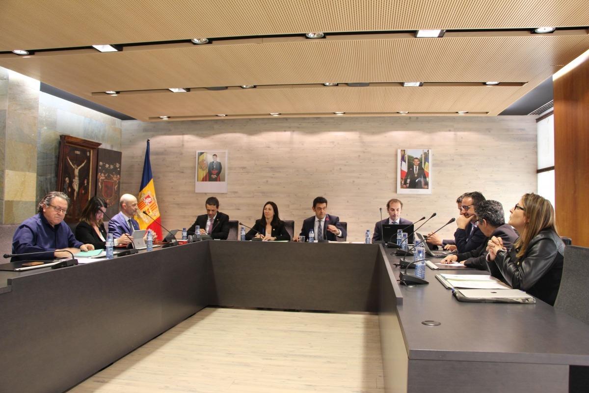 La sessió del consell de Comú que es va celebrar ahir al matí a Ordino.