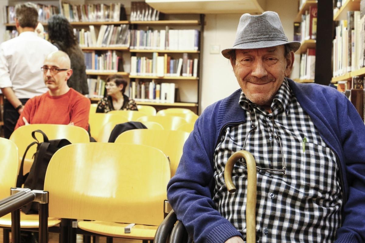 L''autor de 'Borís I' i 'Set lletanies de mort', en la presentació de l'últim número de la revsta 'Ex-libris', l'abril passat a la Nacional.