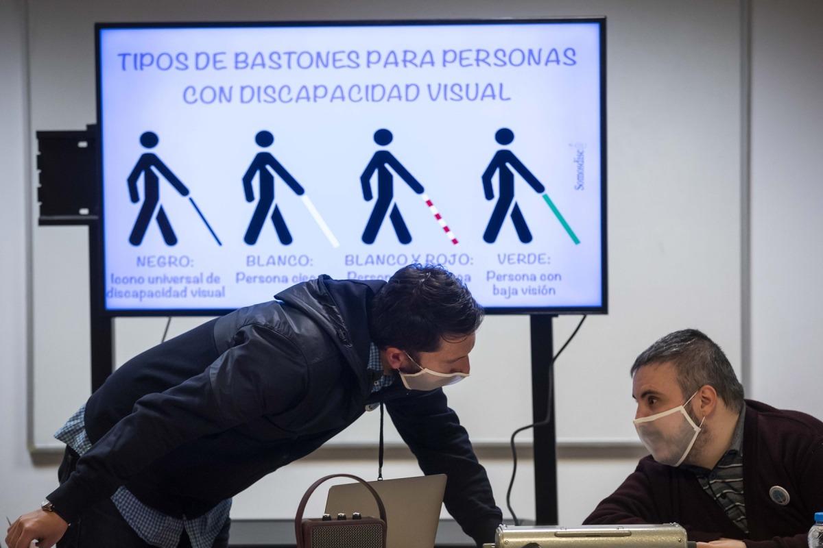 David Jiménez i Marc Latorre en un moment del taller.