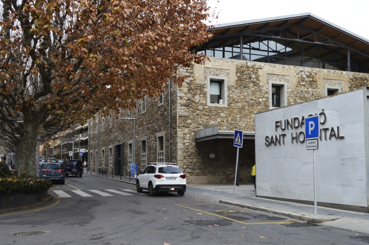 Exterior de la Fundació Sant Hospital, al final del passeig Joan Brudieu.