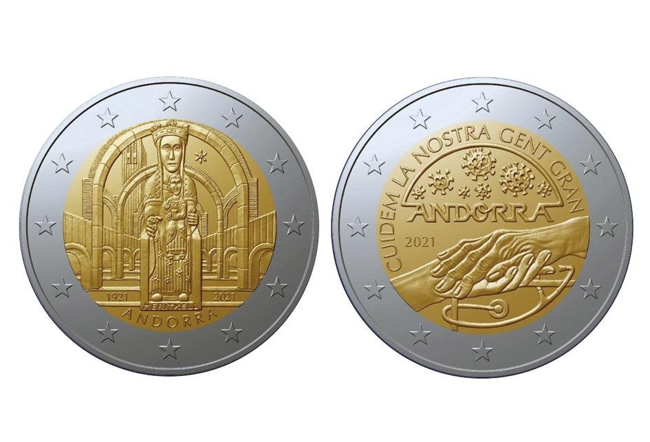 Imatge de les dues monedes commemoratives que s'encunyaran.