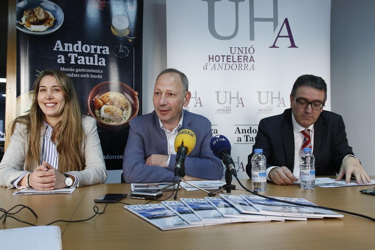 Presentació de l'Andorra a Taula, ahir al matí.