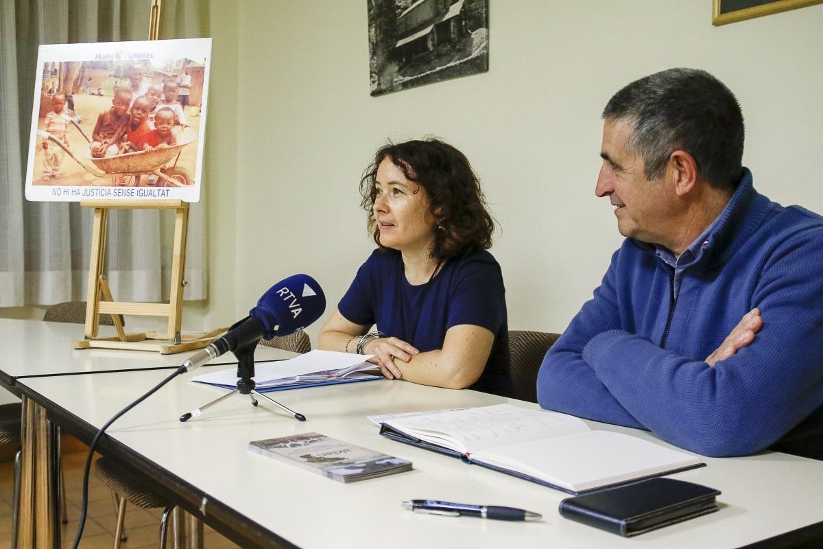 Farrero i Muro en la presentació de la col·laboració entre les dues entitats, ahir.