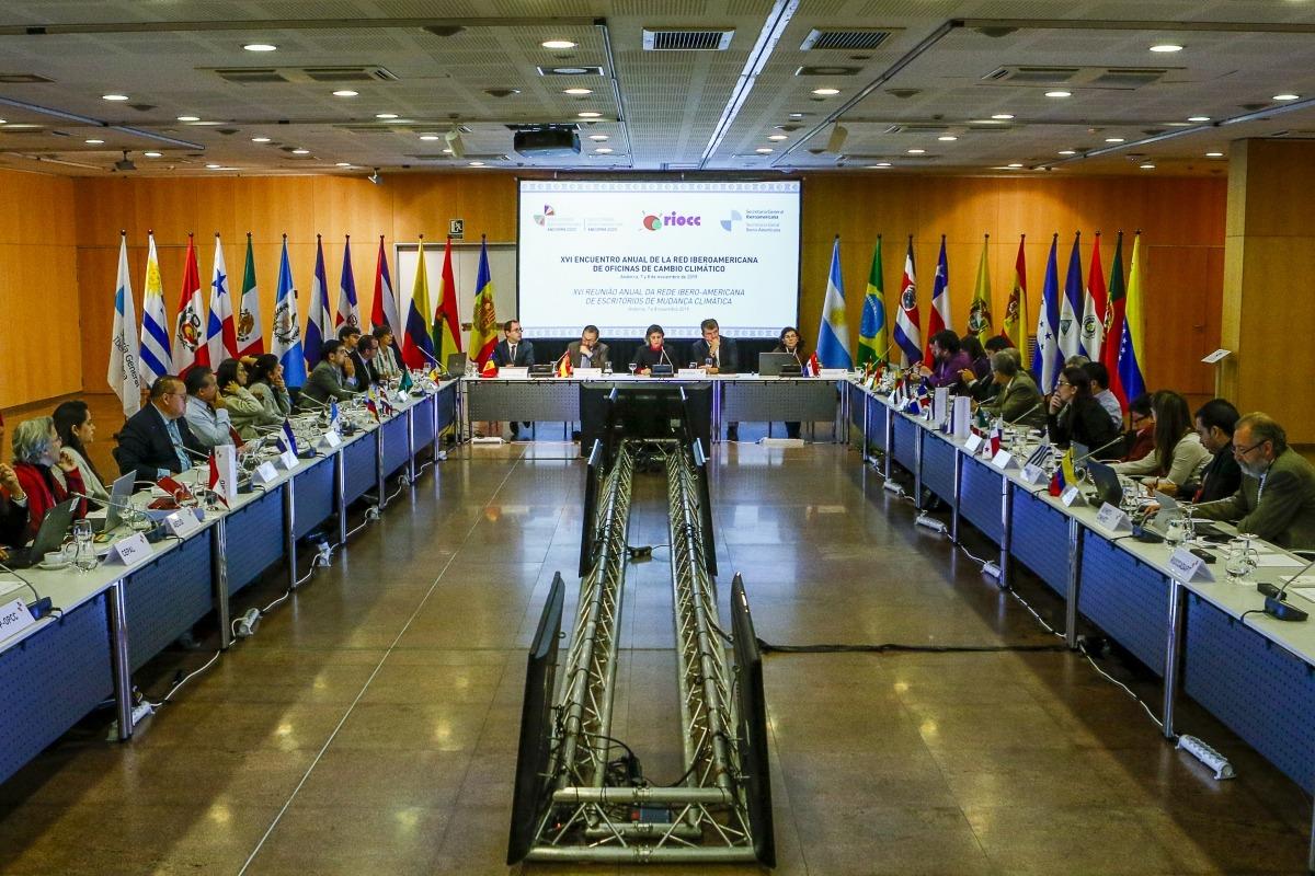 Un moment de la trobada de la RIOCC al Centre de Congressos, ahir al matí.