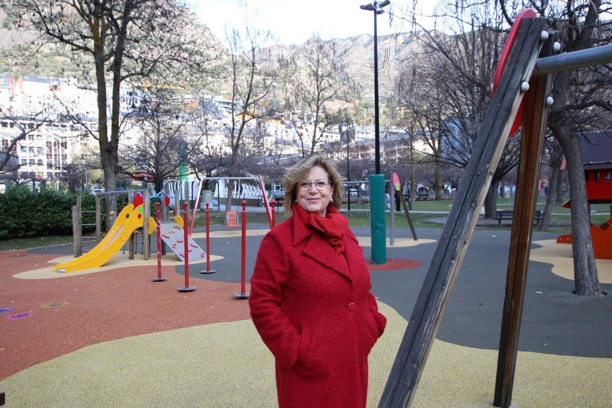 La candidata del PS+I d'Andorra la Vella, Dolors Carmona.