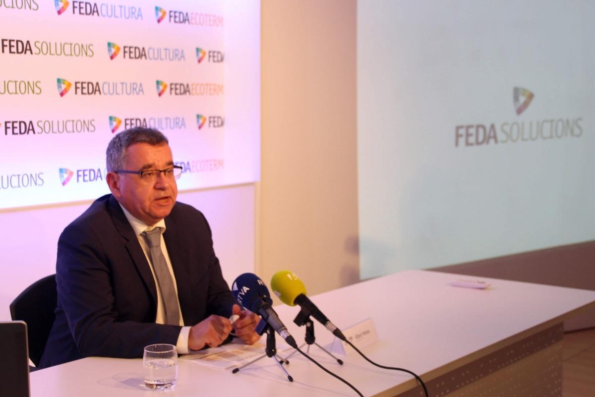 El director de FEDA, Albert Moles, va presentar ahir la nova marca FEDA Solucions.