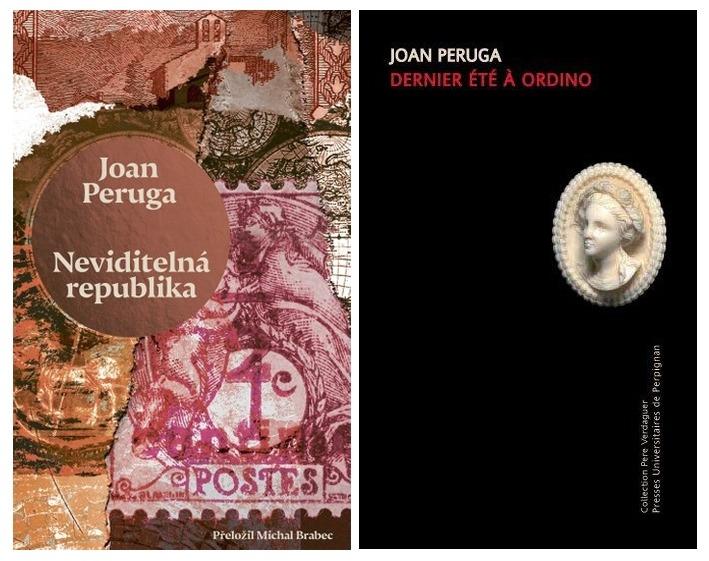 Portades de 'La república invisible', publicat per l'editorial Paseka en txec, i de 'Dernier été à Ordino', que estrena la col·lecció Pere Verdaguer de la universitat Via Domitia, de Perpinyà.