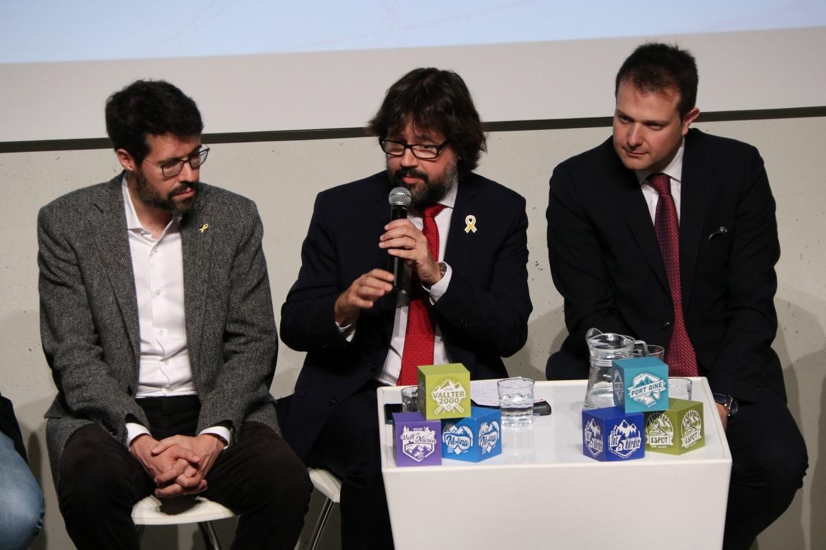 Ricard Font amb Albert Batalla i Gerard Figueras.