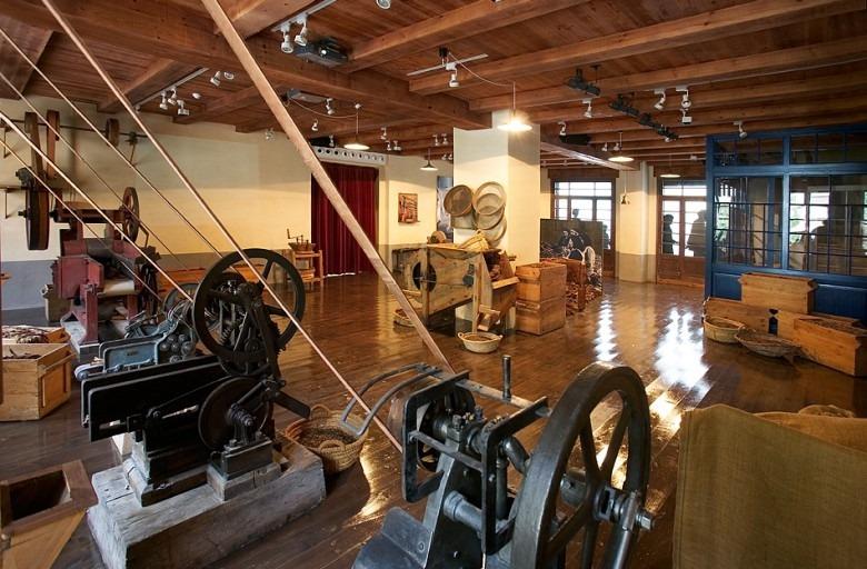 Imatge de l'exposició permanent del que avui és el Museu Fàbrica Reig, a les instal·lacions de l'antiga factoria.