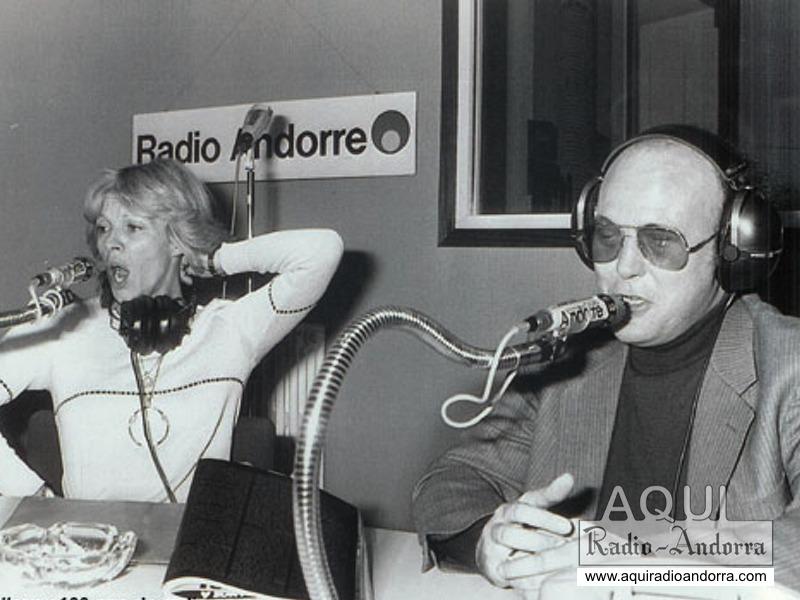 Arty Parera amb Nicoletta, probablement als estudis parisencs de Radio Andorra, el 1979 o el 1980.
