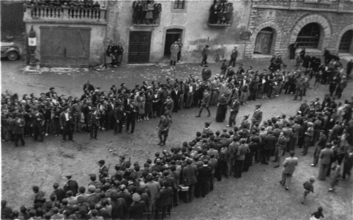 Pere Areny espera la lectura de la sentència que el condemnarà a mort, el 18 d'octubre del 1943.