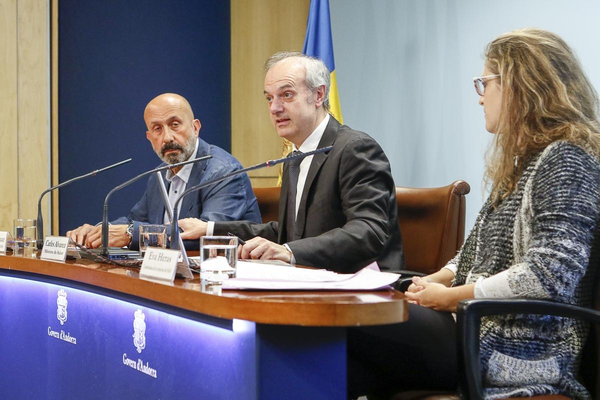 Joan Martínez Benazet, Carles Àlvarez i Eva Heras en la presentació.