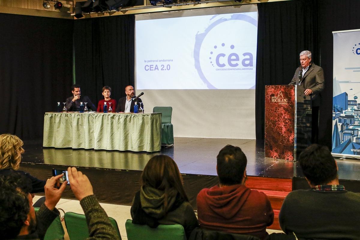 Cadena en la seva intervenció en l'acte de presentació de la CEA-Micro, ahir.