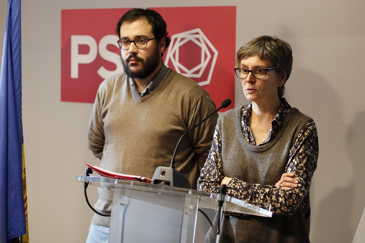Carles Sánchez i Susana Vela van confirmar ahir López com a candidat del PS.