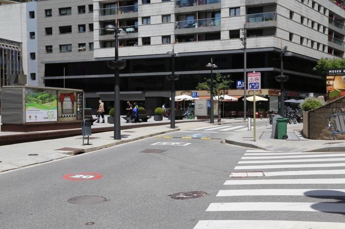 Vista del tram que es tanca al trànsit unes hores a la setmana.