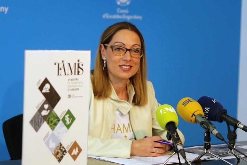 La consellera Sandra Tomàs va presentar ahir la segona edició de la mostra.