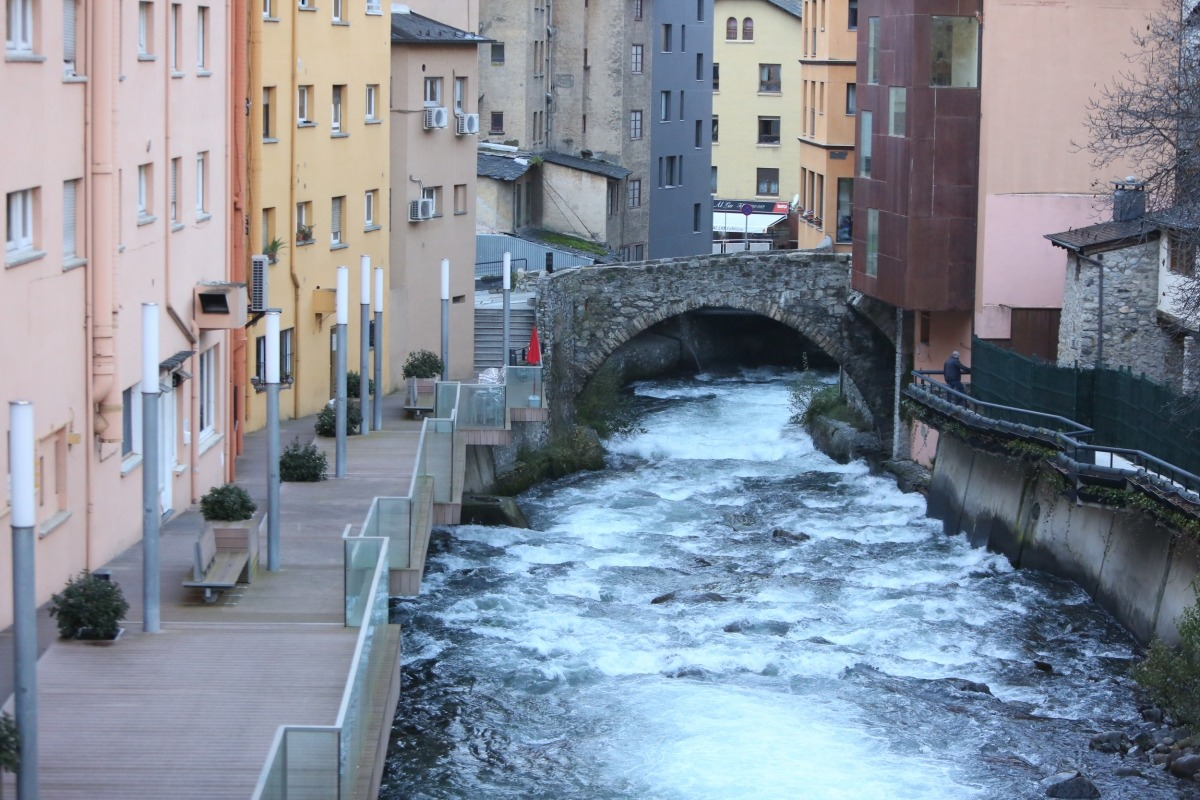 El passeig del riu i el pont d'Engordany, dos elements que s'han de transformar i agafar importància.