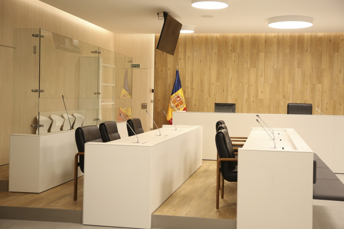 Una sala de vistes del Tribunal de Corts.