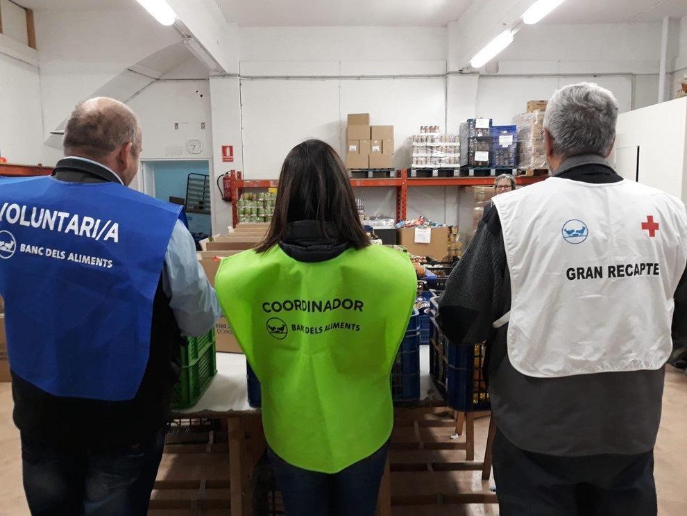 Imatge de voluntaris que van participar en la campanya de fa dos anys.