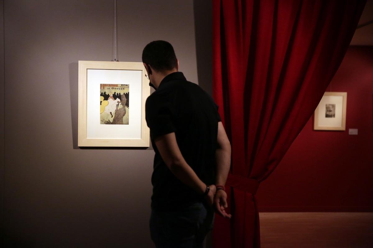 El CAEE s'ha inspirat en l'estètica cabaretera per a 'L'artista irreverent': aquí, un cartell amb la Goulou.