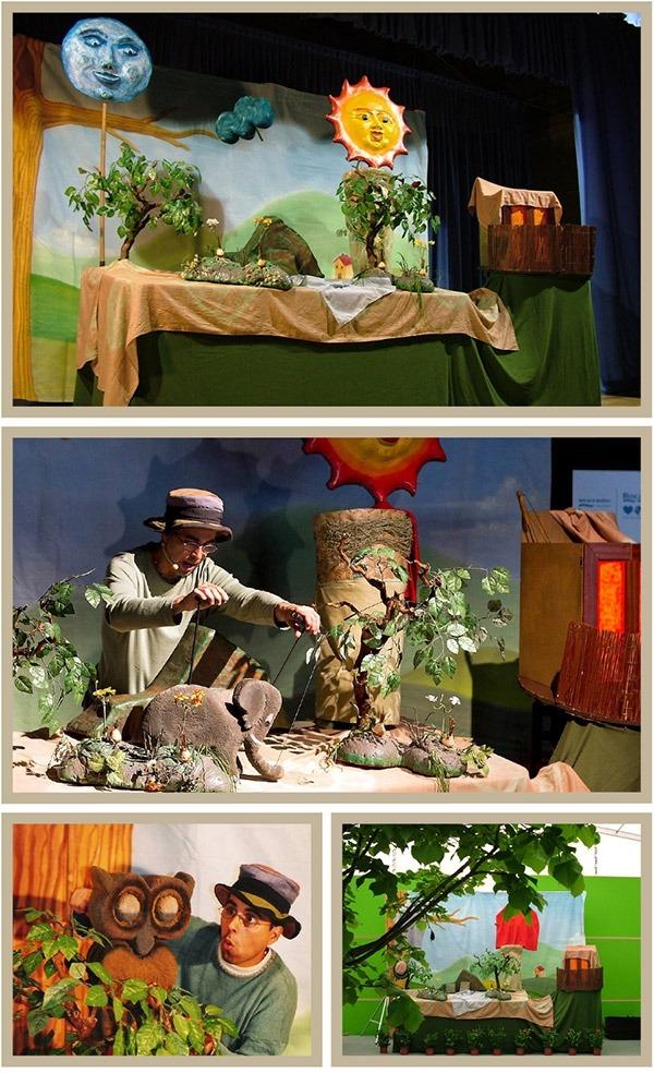 Instants de l'espectacle Animalets de Galiot Teatre.