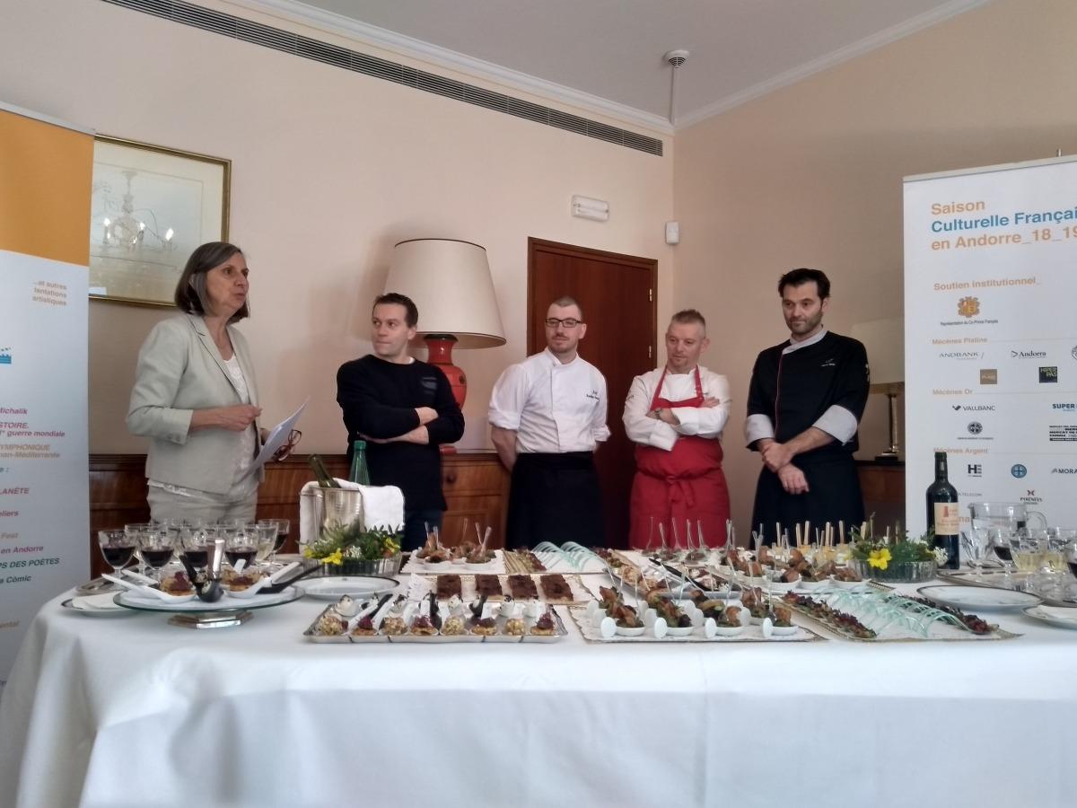 L'ambaixadora francesa presenta quatre dels cinc xefs del Goût de France.