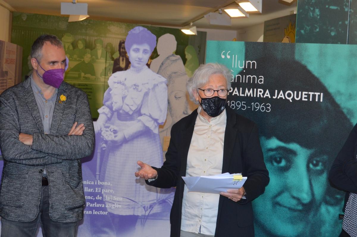 La inauguració de la mostra de Jaquetti, bona ocasió per reivindicar-li un carrer.