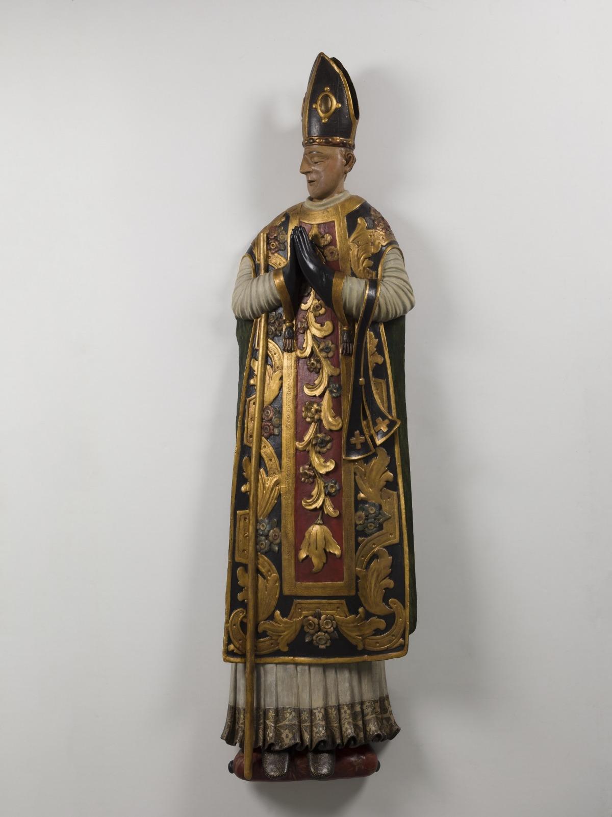 Cenotafi que coronava la tomba del bisbe a l'església de la Companyia de Maria, que avui es conserva, restaurat, al Diocesà.