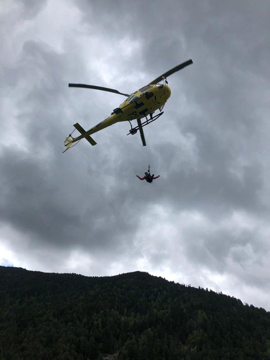 Una operació de rescat dels bombers.