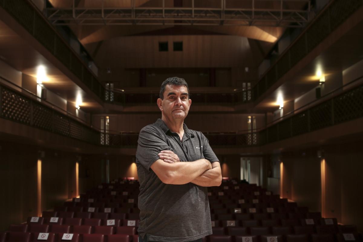 Botey escalfava ahir motors a l'escenari de l'Auditori.