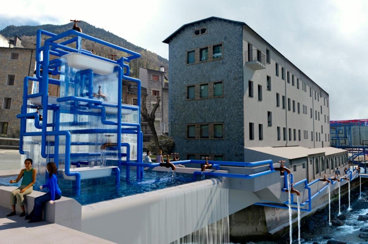 L'itinerari 'L'aigua i la forma' arrencarà a la placeta del Madriu, totalment transformada i que inclourà una piscina per refrescar-s'hi.
