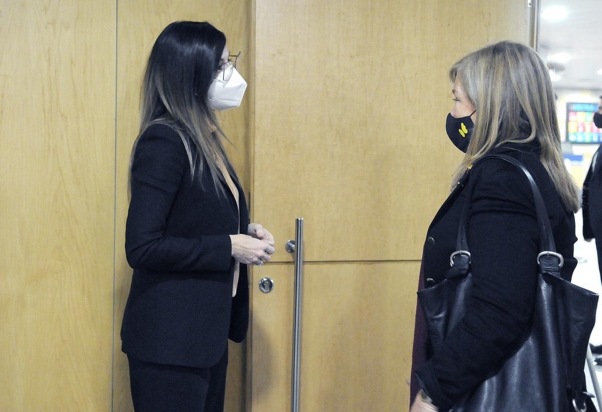 La ministra Riva i la consellera catalana de Cultuta, Àngels Ponsa, es van reunir ahir.