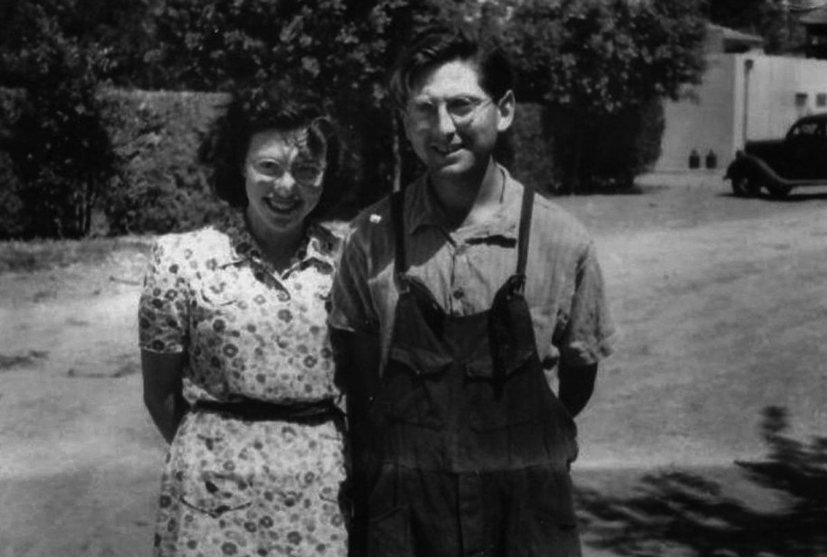 Fanny i Nathan Neenam, ja casats, al 'kibutz' de Degània.