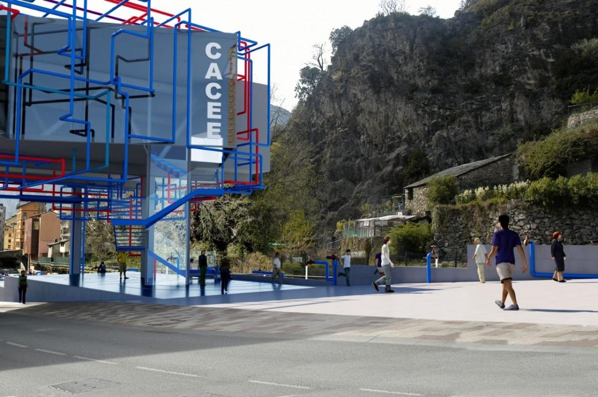 El cor de la ruta serà el Roc del metge i l'edifici Caldes, que Balmaseda concep com un centre d'art contemporani.