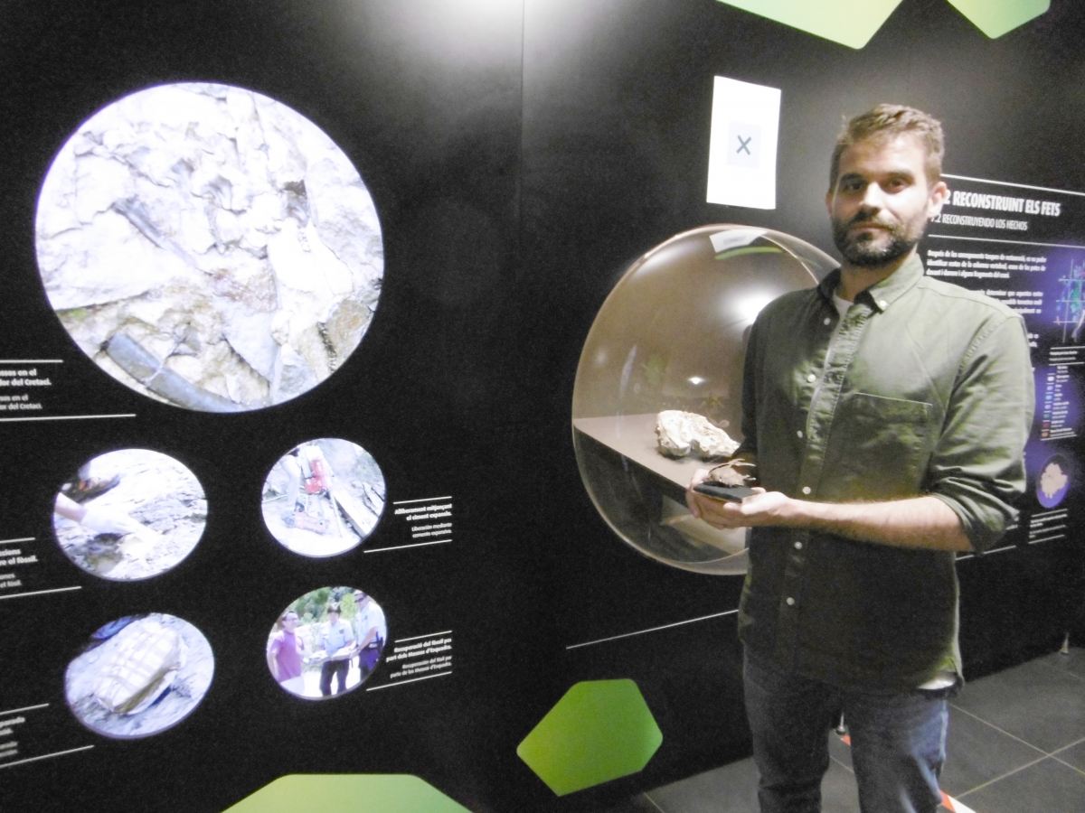 El paleontòleg Albert Sellés.
