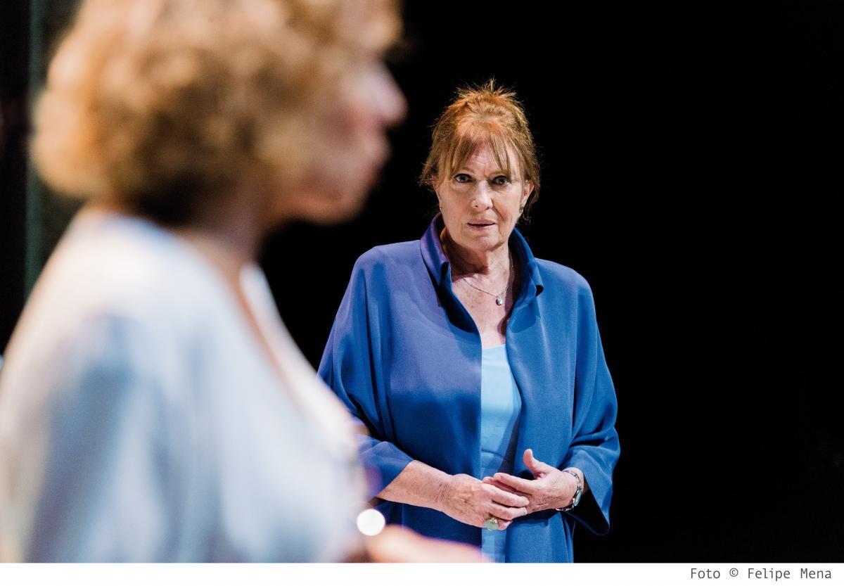 L'actriu catalana, durant la representació.