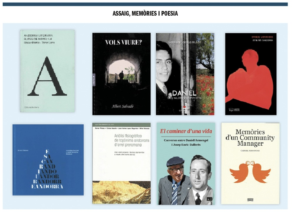 Les novetats de ficció: novel·la, contes i relats.