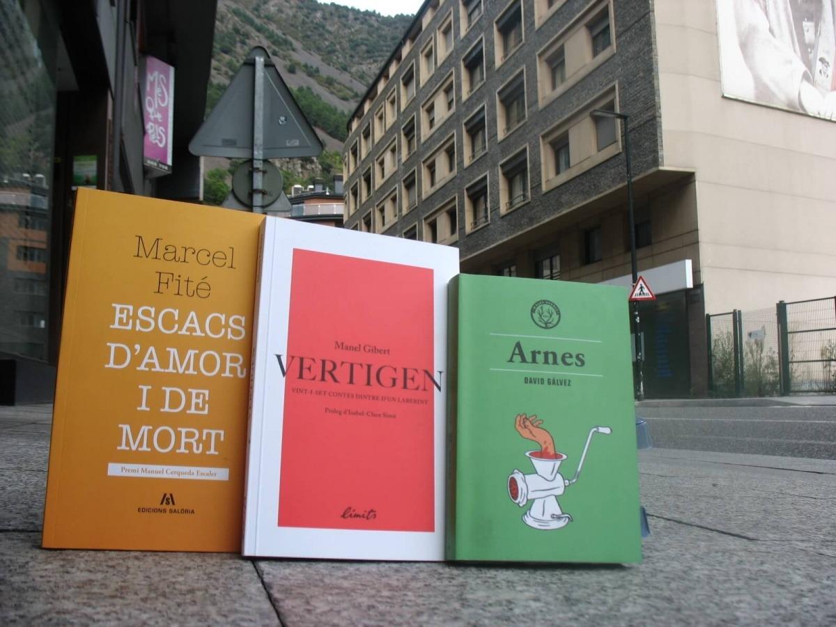 Andorra, literatura, contes, relats, novel·la, poesia, Manel Gibert, Marcel Fité, David Gálvez, Escacs d'amor, Vertigen, Arnes, Arrabal, La noche roja