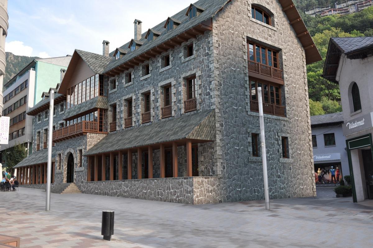 El primer dels dos hotels que Puig i Cadafalch va esbossar a l'actual Casa Lacruz, de nou a Escaldes (1940).