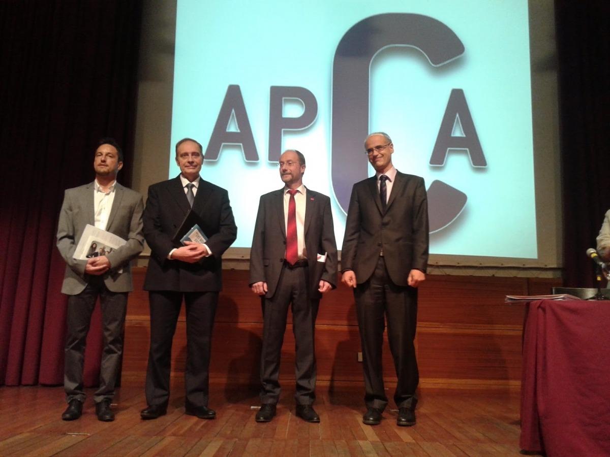 Els quatre candidats que van participar en el primer debat de l'APCA, el 2015.
