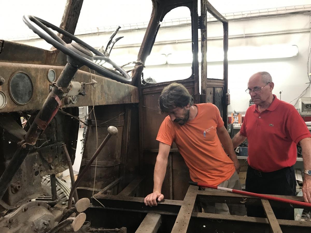 Amb Xavi Quílez, que en coordina la restauració.