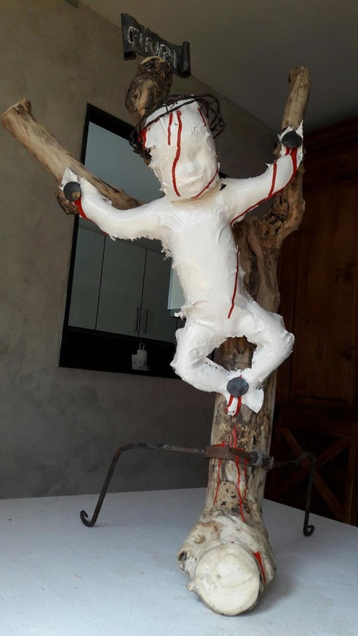 'FINRI, Fill de Jesús de Natzaret, rei dels jueus', alegoria de la pederàstia que firma Didier Aleix: portarà cua.