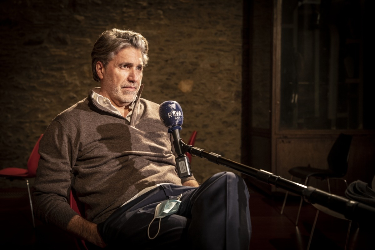 Coonen, en la presentació de la traducció catalana de 'La pífia', divendres passat a la Farga Rossell.