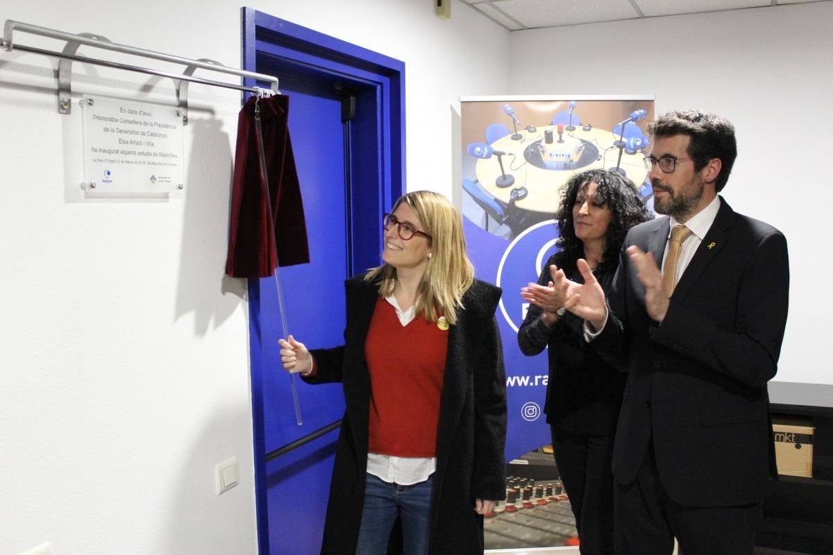 La consellera de Presidència, Elsa Artadi, va presidir l'acte d'inauguració.
