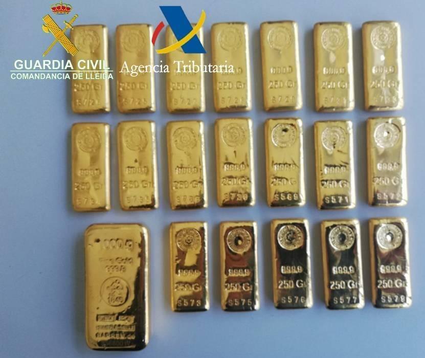Els 20 lingots d'or estan valorats en més de 258.000 euros.